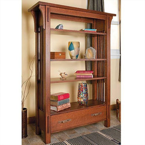 Arts & Crafts Bookcase - Paper Plan