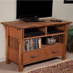 Arts & Crafts TV Stand Downloadable Plan