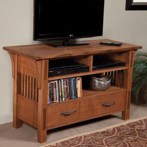 Arts & Crafts TV Table - Paper Plan