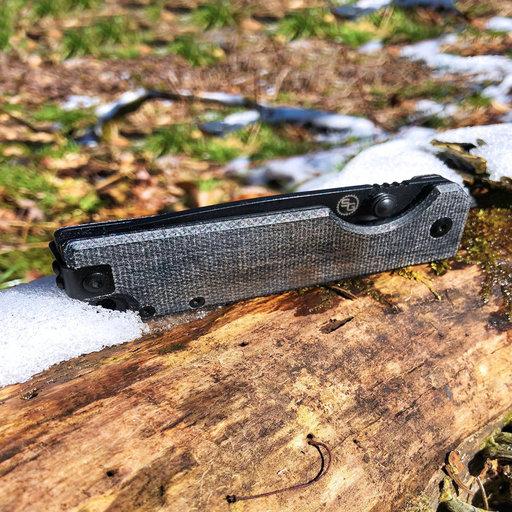 View a Larger Image of Ausus Micarta Folding Knife