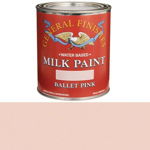 View a Larger Image of Ballet Pink Milk Paint Water Based Quart