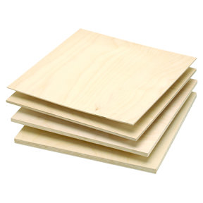 """Baltic Birch Plywood 3mm-1/8"""" x 12"""" x 12"""""""