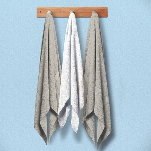 View a Larger Image of Bamboo Stainless Steel Wall Towel Hooks