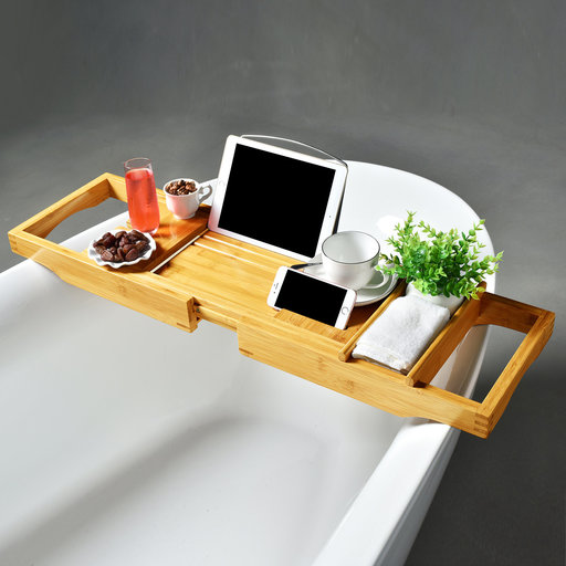 View a Larger Image of Bamboo Tub Caddy