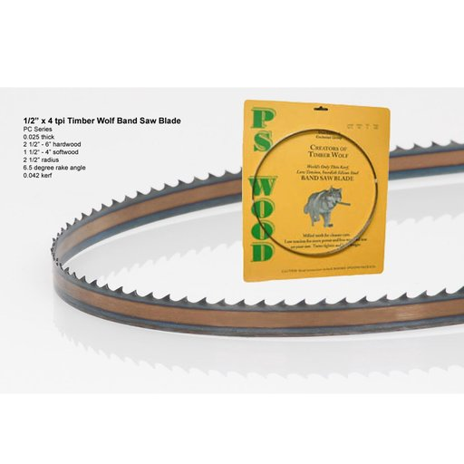 """View a Larger Image of Band Saw Blade 116"""" x 1/2"""" x 4 TPI x .025"""""""