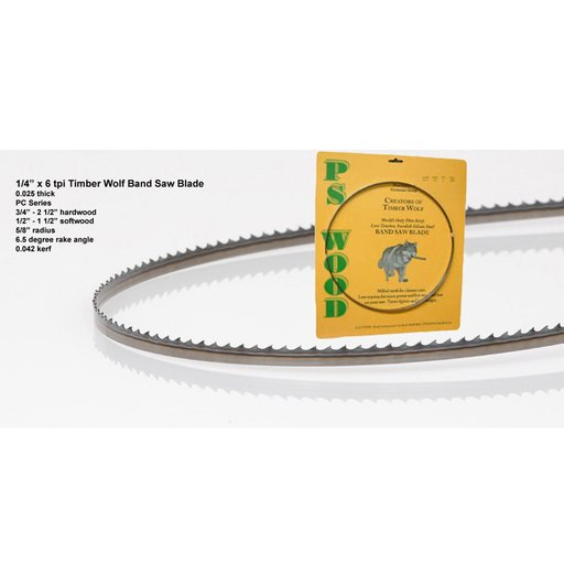 """View a Larger Image of Band Saw Blade 116"""" x 1/4"""" x 6 TPI x .025"""""""
