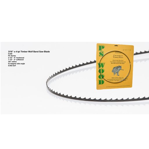 """View a Larger Image of Band Saw Blade 70-1/2"""" x 3/16""""x 4 TPI x .025"""""""
