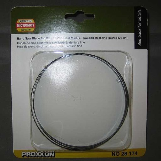 View a Larger Image of Band Saw Blade for Proxxon MBS 115/E, Swedish Steel, Fine, 24 TPI