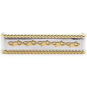 Barbed Wire with Roped Edge Pull, Nickel/Gold