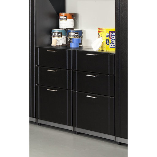 View a Larger Image of Base Cabinet 3-Drawer, Black