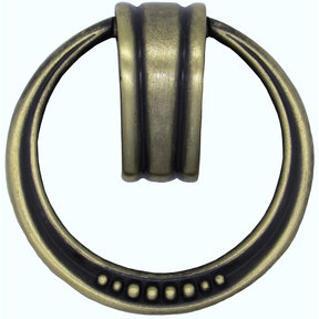 Beaded Elegance Ring Pull Satin Brass