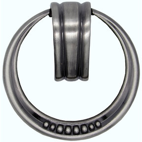 Beaded Elegance Ring Pull Satin Nickel Oxide