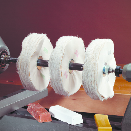 View a Larger Image of Three-On Lathe Buffing Mandrel