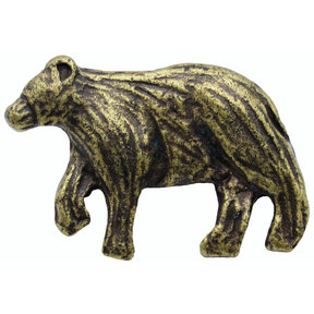 Bear Left Facing Knob Brass Oxide