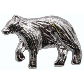 Bear Left Facing Knob Nickel