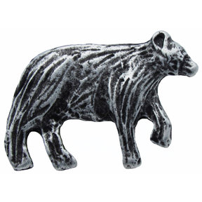 Bear Right Facing Knob Pewter Oxide