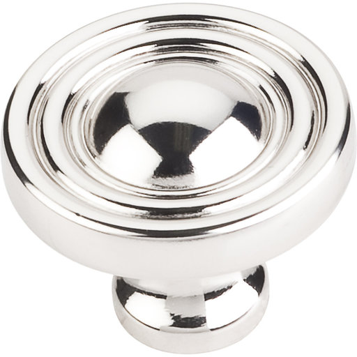 """View a Larger Image of Bella Round Knob, 1-3/8"""" Dia.,  Polished Nickel"""