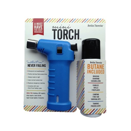View a Larger Image of Bella Tavola Mini Torch Combo - Blue