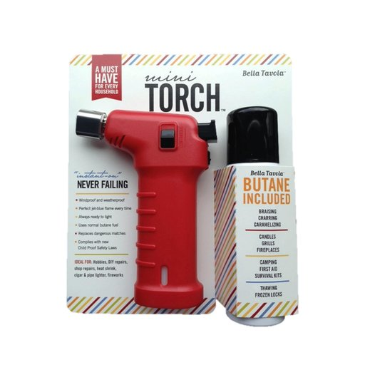 View a Larger Image of Bella Tavola Mini Torch Combo - Red