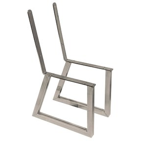 Bench Legs with Back Rest Raw Steel Pair
