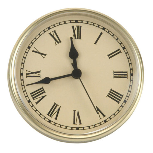 """View a Larger Image of Bezel, 3-7/8"""" Diameter, Brass, Style R, CI Face"""