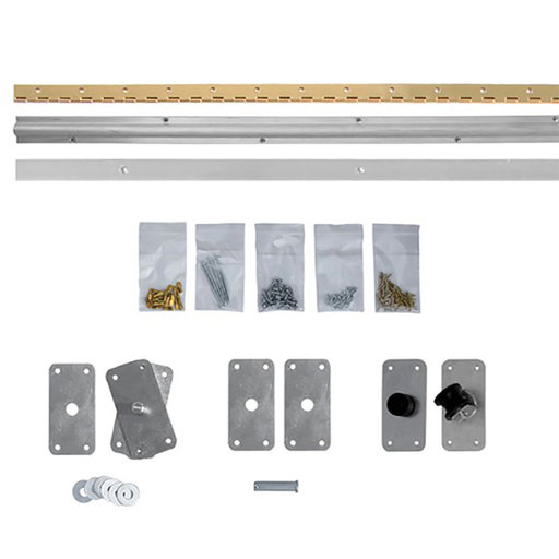 View a Larger Image of Bi-Fold Bookcase Door With Valance Hardware Kit