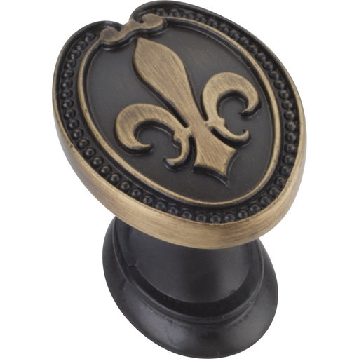 """View a Larger Image of Bienville KNob, 1-5/16"""" O.L., Antique Brushed Satin Brass"""