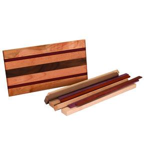 """3/4"""" x 8-1/2"""" x 16"""" Maple, Padauk, Purpleheart & Walnut Bistro Cutting Board Kit"""