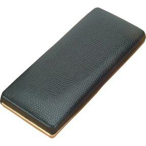 Black Leatherette Gold Trim w/Black Velvet Interior
