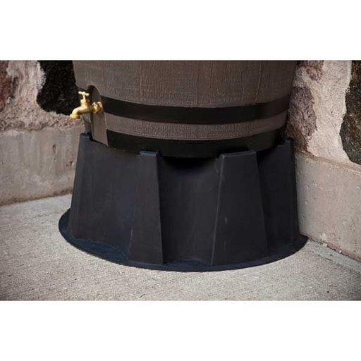 View a Larger Image of Black Rain Barrel Stand for 50 gallon Rain Barrels with Flat Back