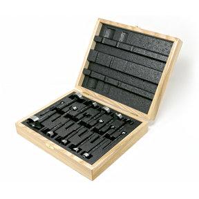 Black Shark Forstner Bit 16 Pcs Set, Imperial and Metric, In Wooden Box