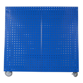 Blue  Anodized Aluminum Frame Tool Cart with Tray