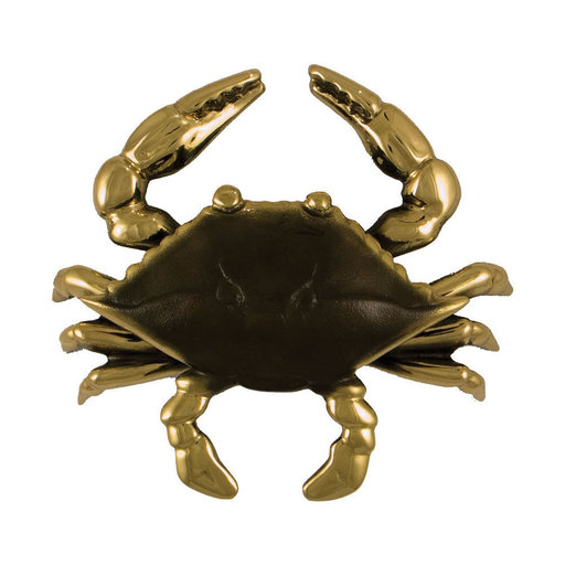 View a Larger Image of Blue Crab Door Knocker - Brass