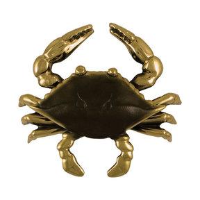 Blue Crab Door Knocker - Brass