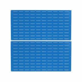 2 - Blue Epoxy Coated Louvered Panels, 18 gauge