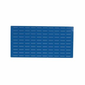 1 - Blue Epoxy Coated Louvered Panel, 18 gauge