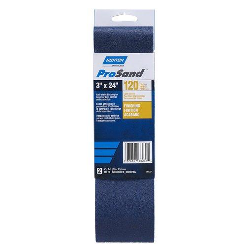 "View a Larger Image of 3"" x 24"" ProSand Sanding Belt 120 Grit"