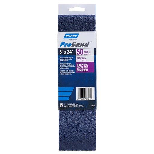 "View a Larger Image of 3"" x 24"" ProSand Sanding Belt 50 G"