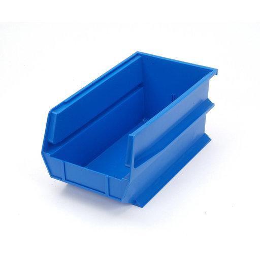 View a Larger Image of Blue Stacking, Hanging, Interlocking Polypropylene Bins, 6 CT