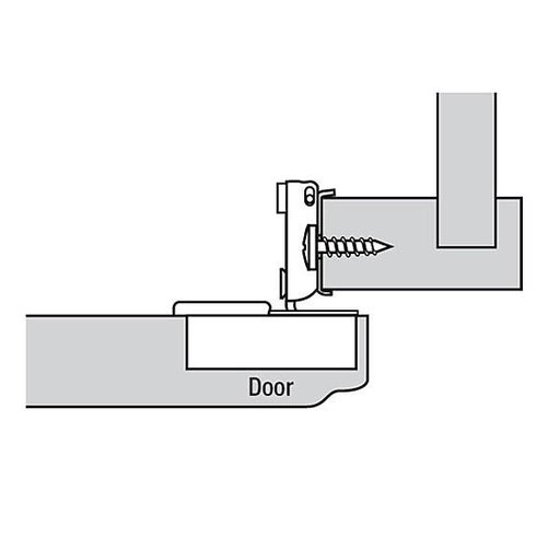 """View a Larger Image of 110° 1/2"""" Overlay Face Frame Hinge Edge Mount Pair"""