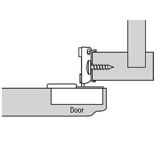 """View a Larger Image of 110° 3/4"""" Overlay Face Frame Hinge Edge Mount Pair"""
