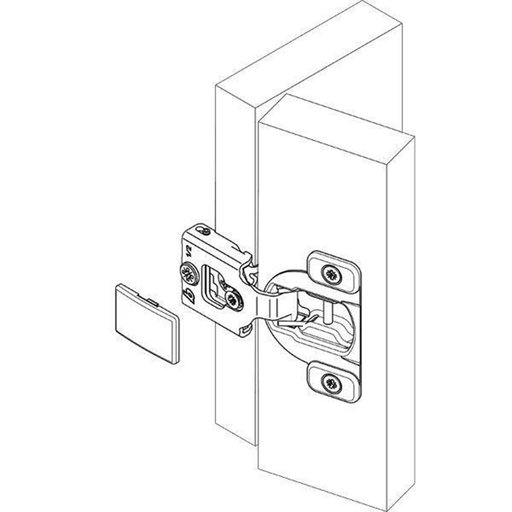 """View a Larger Image of Compact 3/4"""" Overlay Face Frame Hinge Pair"""