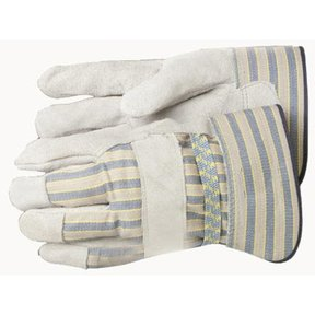 Leather Palm Gloves - Size Large