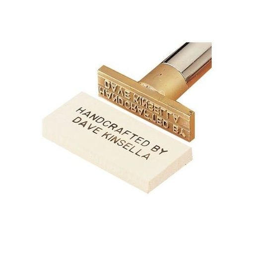 """View a Larger Image of Branding Iron, """"Handcrafted By ..."""", Non-Electric Model"""