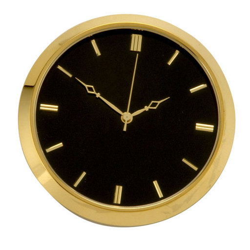 View a Larger Image of Brass Fit-Up, Modern Numbers, Black Dial, 50mm