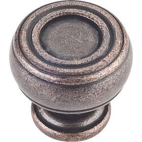 "Bremen 2 Barrel Knob, 1-3/16"" Dia.,  Distressed Oil Rubbed Bronze"