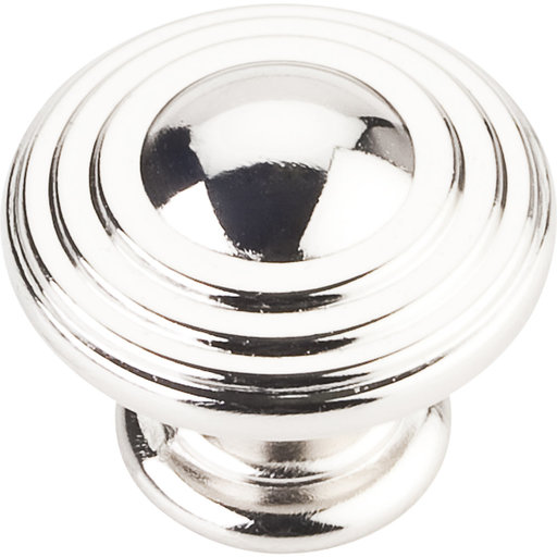 """View a Larger Image of Bremen 2 Stacked Knob, 1-1/4"""" Dia.,  Polished Nickel"""