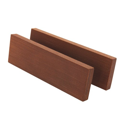 """View a Larger Image of Synthetic Fibre Board Knife Scale - 3/8"""" x 2"""" x 5"""" - Brown - 2 pc."""