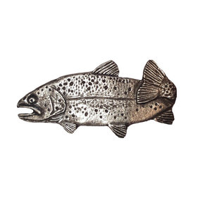 """2"""" Long Trout Pull Left Facing, Pewter, Model 096P"""