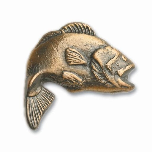 View a Larger Image of Big Bass Pull, Antique Copper, Model 151AC